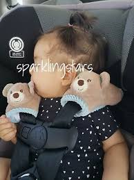baby seatbelt covers pink elephant