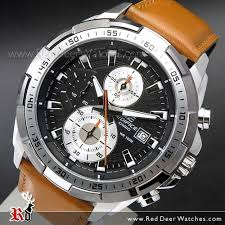 genuine leather band mens watches