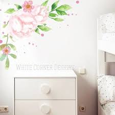 Watercolor Peony Wall Decals Peonies Decals Flower Decals Etsy