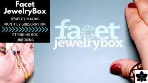 facet jewelry box monthly beading and