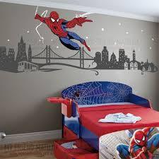 Spiderman Boys Wall Decal Themed Room Spider Man Kids Room Design Boy Room Paint Spiderman Room