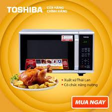 LÒ VI SÓNG TOSHIBA ER-SGS23(S1)VN - Có chức năng nướng - Điện tử - Dung  tích 23L - Công suất 800W - Xuất xứ Thái Lan - Hàng chính hãng, bảo hành