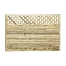 Ledbury Continental Lattice Top Fence Panel W 1 8m H 1 2m Pack Of 3 Departments Diy At B Amp Q Fence With Lattice Top Fence Panels Garden Fence Panels