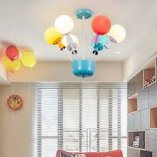 Modern Led Balloons Chandelier Lighting With Glass Lampeshades Colorful Ceiling Pendant Light For Girls Boys Kids Room Bedroom Chandeliers Aliexpress