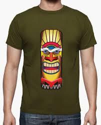 tiki totem mask hawaii t shirt