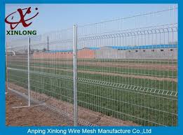 3d curved green pvc coated wire mesh