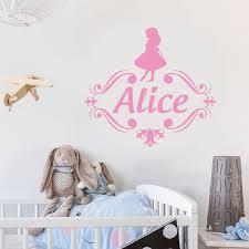Kids Room Decor Personalized Name Alice In Wonderland Vinyl Wall Art Sticker Monogram Children Kids Room Decor Customized Name Wall Muarl Ay1252 Wall Decor Brigs Com