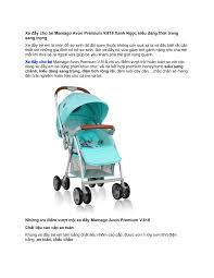 Xe đẩy cho bé 6 tháng tuổi Mamago Avon Premium - Kids Plaza by ...