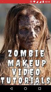 zombie face makeup video tutorial