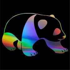 Big Panda Bear Window Glass Wall Home Room Door Car Sticker Laptop Auto Car Truck Animal Vinly Car Stickers Aliexpress