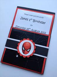 Handmade Spiderman Party Invitations Envelopes Set Of 10 5 99
