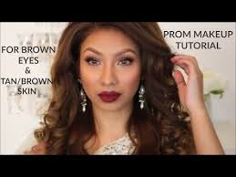 prom makeup for brown eyes and tan skin