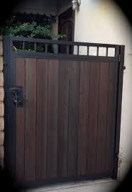 steel framed wood gates custom steel