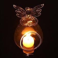hot angel glass crystal hanging tea