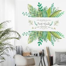 Creative Green Plant Wall Decals Home Decoration Living Room Shop Window Decor Pvc Wall Stickers 66 66cm Poster Diy Mural Art Buy At The Price Of 3 10 In Aliexpress Com Imall Com
