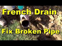 how to replace section of french drain