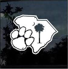 Clemson Tigers Paw Window Decal Sticker Custom Sticker Shop