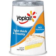 creamy lemon meringue fat free yogurt
