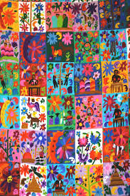Colorful Mexican Quilt Wall Decal Wallmonkeys Com