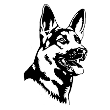 German Shepherd Alsation Dog Car Stickers Wolf Dog Police Dog Personality Vinyl Decal Truck Accessories Wish