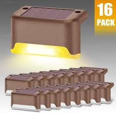 8 12 16 Pack Solar Deck Lights Fence Post Solar Lights For Patio Pool Stairs Step And Pathway Weatherproof Led Deck Lights Solar Powered Outdoor Lights Warm White Wish