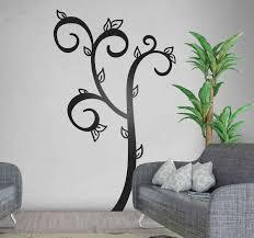 Simple Leaves Tree Tree Wall Sticker Tenstickers