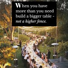Build A Bigger Table Not A Higher Fence By Global Table Adventure