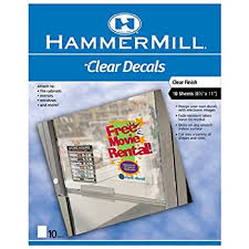 Amazon Com Hammermill Inkjet Static Cling Window Labels 8in X 10in Sheets Clear Pack Of 10 Removable Labels Office Products