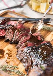tender marinated london broil the