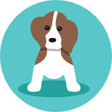 Adorable Simple Pure Breed Puppy Dog Icon Cartoon Beagle Vinyl Decal Shinobi Stickers