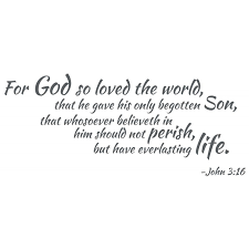 For God So Loved Scripture Wall Decal John 3 16 Divine Walls