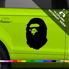 Bape Logo Car Decal Nigo Window Or Bumper Vinyl Sticker Etsy