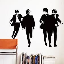 Art Design Cheap Home Decoration Vinyl Famous Beatles Wall Sticker Removable British Music Star Decal Room Decor In Bedroom Room Decoration Home Decordecorative Vinyl Aliexpress