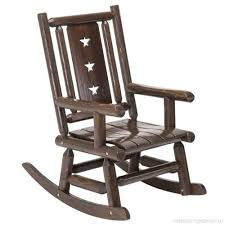 wood outdoor rocking chair rustic porch