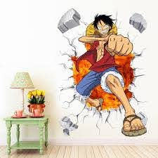 Cartoon Wall Decal One Piece The Treasure Thrift