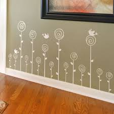 Swirling Poppies Set Wall Decals
