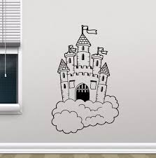 Removable Castle In Clouds Wall Decal Nursery Wall Mural Kids Bedroom Decor Magic Kingdom Vinyl Sticker Kids Room Decor Ay379 Wall Stickers Aliexpress