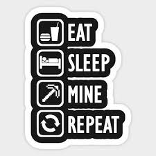 Minecraft Eat Sleep Mine Repeat Gaming Vinyl Decal Laptop Car Bumper Sticker 4 99 Picclick