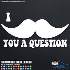 I Mustache You A Question Car Decal Window Stickers
