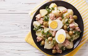 Crushed Potatoes With Tuna