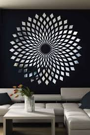 Diamond Starbust Mirror Decal Wall Art Chrome Or Gold 6 Sizes Walltat Com Mirror Decal Decal Wall Art Starburst Wall Art