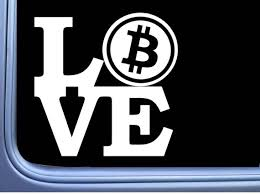 Bitcoin Love L691 6 Inch Sticker Hold Cryptocurrency Bitcoin Etsy