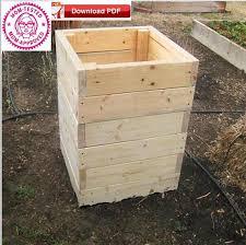 raised planter box plan potato planter