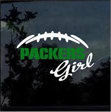 Green Bay Packers Girl Window Decal Sticker Custom Sticker Shop