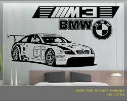 Bmw M3 Gt2 M Power Race Car Removable Wall Vinyl Decal Sticker 58 X 22 For Sale Online