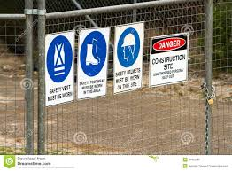 Construction Security Fence With Signs Stock Photo Image Of Fence Signs 36452566