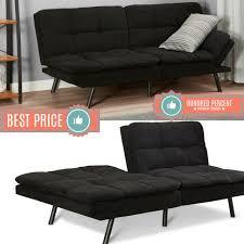 memory foam futon sleeper sofa bed