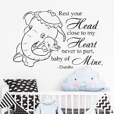 Dumbo Quote Wall Decal Elephant Vinyl Stickers Wallpaper For Kids Rooms Baby Nursery Art Decals Mural Bedroom Home Decor Cheap Tree Wall Decals Cheap Vinyl Wall Decals From Joystickers 11 75 Dhgate Com