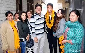 Abhishek Sharma arrives in city
