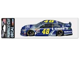 Jimmie Johnson 48 Wincraft Lowes Racing Perfect Cut Racing Car Decal 3 X 10